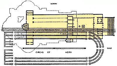 Il-circo-di-Caligola-lantica-basilica-e-la-chiesa-attuale