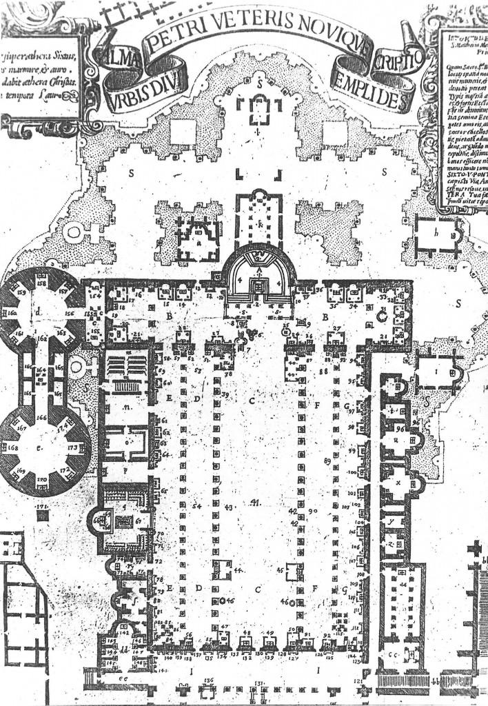 Pianta-della-basilica-vecchia-e-nuova-1590-708x1024